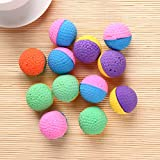 oreforde Lot de 12 balles colorées en Latex Doux et Amusantes pour Chien et Chat