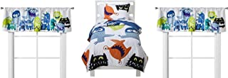 Circo Monster Party High Quality Twin Quilt Set + 2 Window Valances