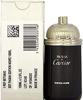 Cartier Pasha Noire For Men Eau De Toilette Spray, 3.4 Ounce (Tester/Plain Box)