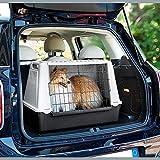 Ferplast 73079021W1 Autotransportbox ATLAS CAR MINI, für Hunde, Maße: 72 x 41 x 51 cm, grau - 9
