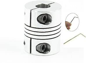 YXQ 6mm CNC Motor Shaft Coupler Wheel Flexible Coupling Alloy for 3D Printer 20mm Dia 25mm High
