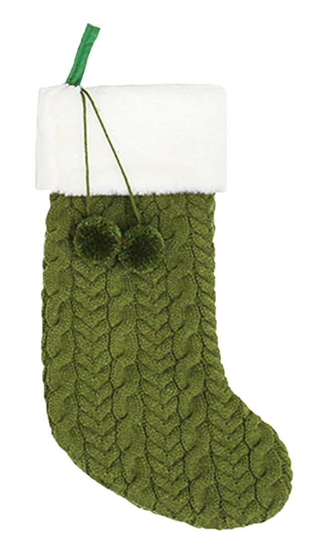 やりがいのある調和クレアEOZY クリスマスソックス クリスマスプレゼント袋 ラッピング ギフト袋 クリスマスツリーに飾り 可愛い袋 クリスマスツリー 飾り 壁掛け 玄関飾り ギフトバッグ グリーン