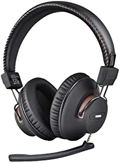 Avantree AS9M Bluetooth Over Ear Headphones with Detachable Boom Mic for Phone Call, Home Office PC Computer, Clear Voice ...