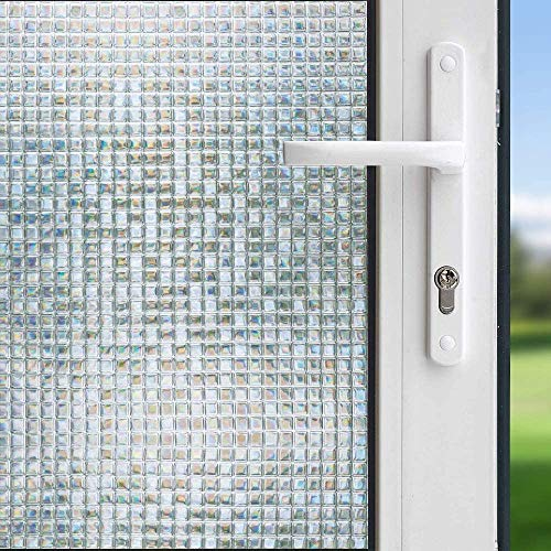 LMKJ Película de Ventana Decorativa 3D diseño de Vinilo sin Adhesivo película de privacidad de Ventana Pegatina electrostática Pegatina de vitral A48 60x100cm