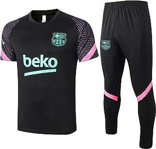 Bærcılınıgrêzmānnフットボールジャージ2021新しいサッカージャージ半袖ズボン2個のトラックスーツのトレーニングジャージージョギングトップとパンツスーツ、屋外旅行 XL