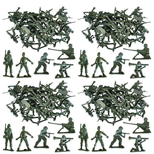 MEGA VELEUR 100 x Traditionnel Vert Armée Hommes Combat Force Jouet Plastique Soldats Classique Jouet Enfants War Games