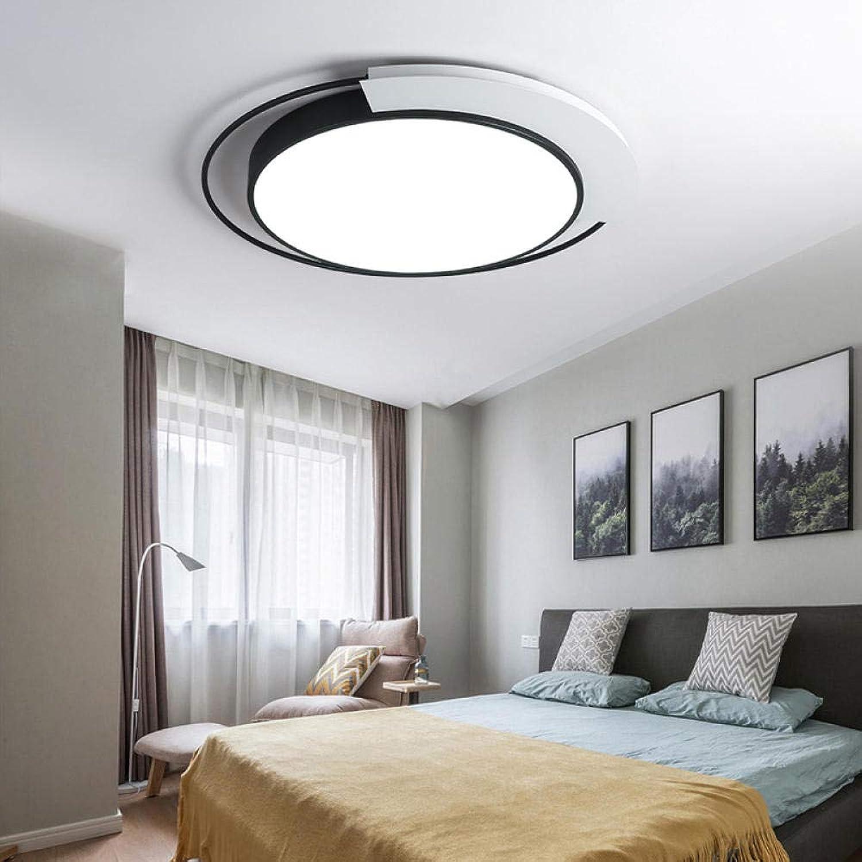 Modern LED Deckenlampe Runde Ultra-dünne Dimmbar DeckenleuchteKreative Persnlichkeit Deckenleuchte für Wohnzimmer Gang Schlafzimmer, 45cm - stufenloses Dimmen 24W