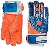 Derbystar Protect Basic Ar Quattro - Guante de Portero, Color Azul y Naranja Azul y Naranja Talla:42