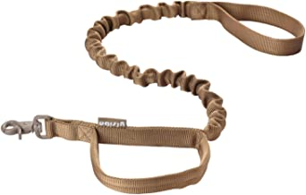 yisibo Tactical Bungee Dog Leash-2 Handle-No Pull-Military Dog Training Leash