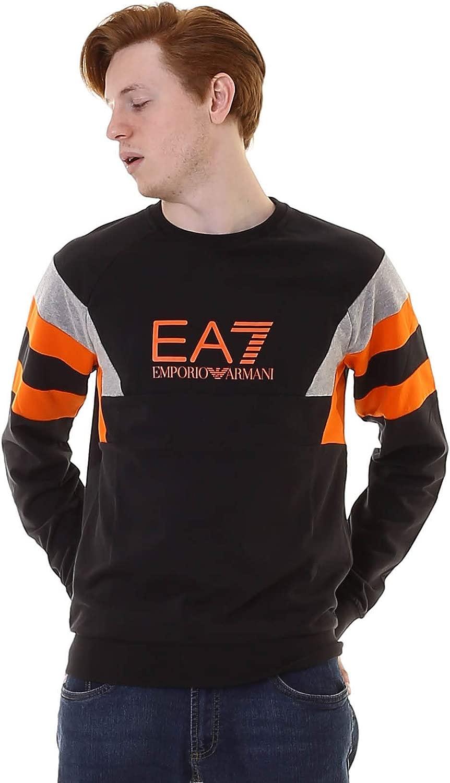 EA7 Herren Trainingsanzug Schwarz Schwarz