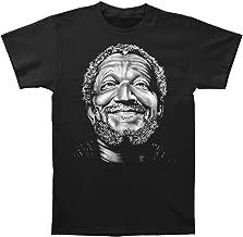 Sanford and Son Men's Smile Fred Slim Fit T-Shirt Black