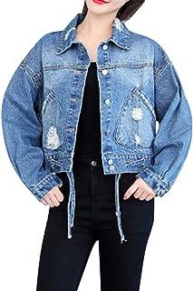 Rosatro Women Jackets Denim Ladies Full Sleeves Jean Jacket Coat Retro Cowboy Casual Jacket
