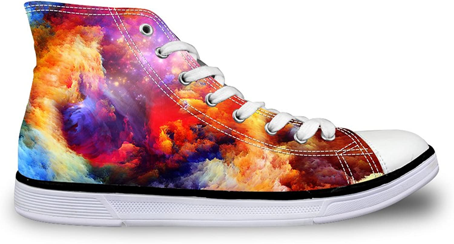Mumeson Classic Galaxy Canvas Walking shoes Men Womens High Top Sneakers