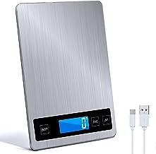 Raniaco Balance De Cuisine Electronique - Balance De Cuisine Precision 15 kg et une Balance Cuisine Precision 1g - g/kg/l...