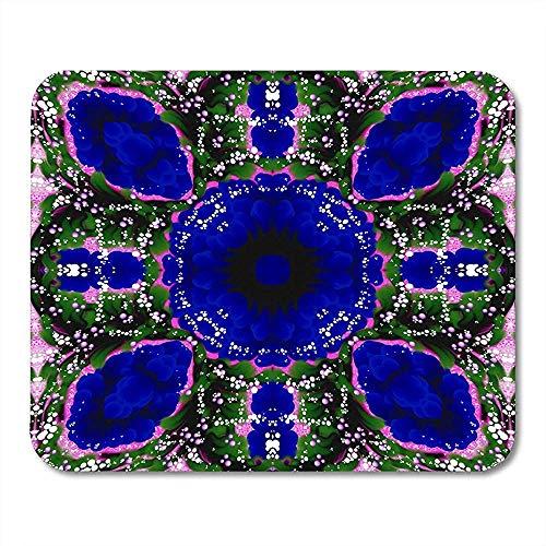 Zusammenfassung farbiges symmetrisches Muster auf im Rosa und in anderen Schatten mit den weißen und purpurroten Punkten um Funktionsschreibtisch-Spielauflage 25x30CM