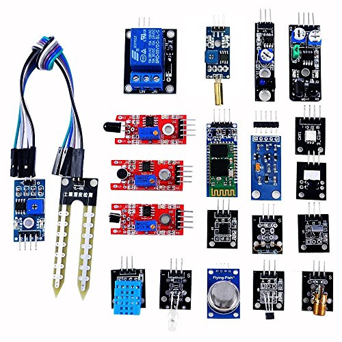 OSOYOO 20 in 1 Ultimate Sensor Kit for Arduino UNO R3 Mega2560 Nano Raspberry Pi DIY Learning Package with On-line Instructions for Each Module