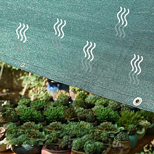 Shade net HXLQ 75% red de sombreado, tejido de sombreado anti UV verde, toldo para jardín con efecto invernadero, terrazas, cobertizos, vallas, diferentes tamaños