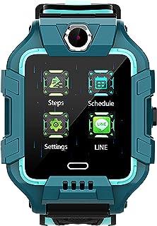 shjjyp Smartwatch NiñOs GPS Y Llamadas Lbs Rastreador PodóMetro Impermeable CáMara Sos Pantalla TáCtil HD ConversacióN Bid...
