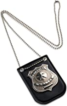Dress Up America Pretend Play Police Badge with Chain & Belt Clip