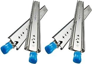 F-XW 2 paar ladeglijbanen met slot, telescopische schuifrail voor keuken, 2 in verbreding, zijmontage, draagvermogen van 1...