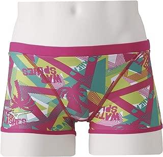 美津浓(MIZUNO) 泳衣 训练用 男 训练泳裤 紧身短裤 N2MB9075 65:玫瑰色 Medium