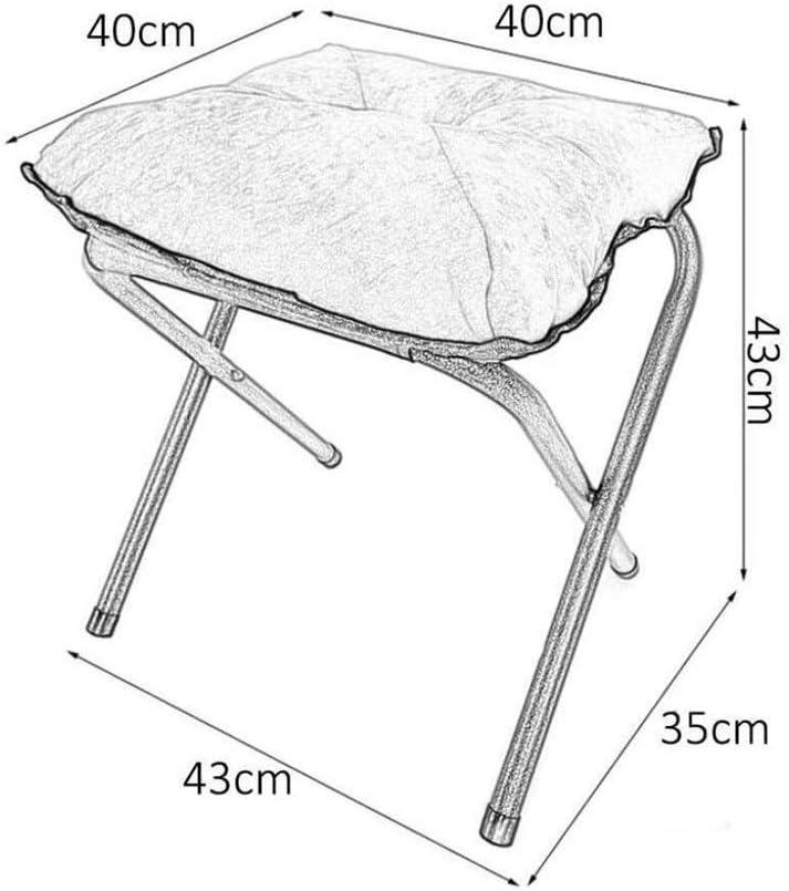 Chaise Pliante Camping Fauteuil Rond Tabouret pliant portable for bureau Pause déjeuner 40 * Sofa Pouf 40 * 43 cm (Color : #10) #2