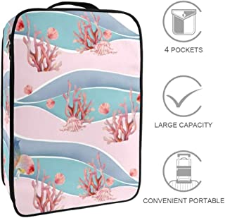 yingyue Portable Reusable Shoe Bag with Drawstring Home Travel Business Accessories 3Pcs
