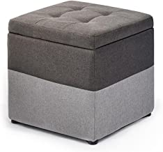 Yxsdd Fashion Footstool Storage Stool Ottoman-Living Room Sofa Dressing Change Shoes Stool,Upholstered Foot Rest Small Cha...