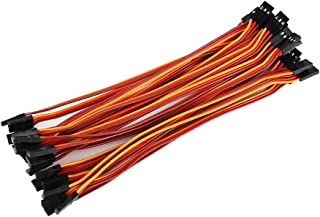 1 Hobbypower strap Hobbypower 10cm Male to Female Jr Plug Rc Servo Extension Lead Wire Cable pack of 20pcs