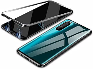 Hicaseer Sony Xperia 1 II Case, Transparent Glass Anti-scratch Magnetic Non-slip Protective Case for Sony Xperia 1 II -Black
