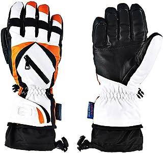 HAOSHUAI Winter Dikke Warme Motorhandschoenen Waterdichte En Koude Handschoenen, Een verscheidenheid aan kleuren Ridding handschoenen (Kleur : Geel, Maat : M)