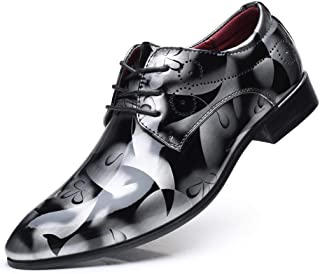 70bb4edf4acd72 Chaussures Hommes Moonuy Mode Hommes Bout Pointu Lumineux Chaussures Plates  À Lacets Chaussures De Mariage Chaussures