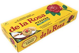 Mazapan Toasted Coconut De La Rosa (30 Pieces) 630 grams the traditional and classical well know Marzipan with a tropical twist Mexican candy fancy snacks soft tasty delicious