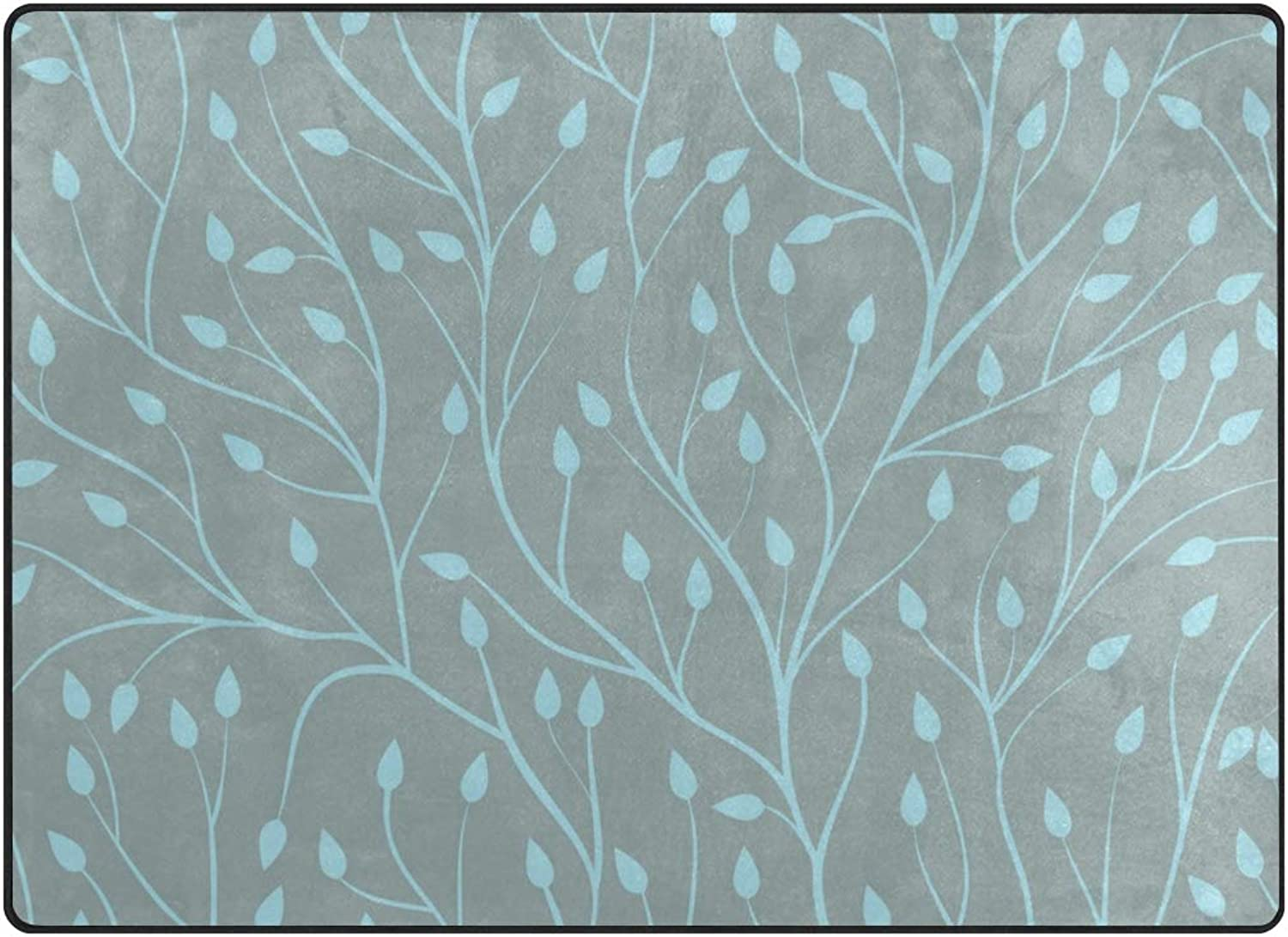 SUABO 80 x 58 inches Area Rug Non-Slip Floor Mat Tree Branches Printed Doormats Living Room Bedroom