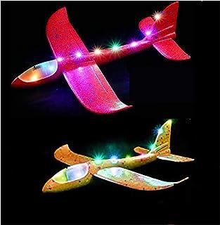 Deluxe Edition 2 bitar av skumflygplan-barnens flygplan Leksak-manuell kastning, utomhusleksaker, för barn över 3 år, 18,9...