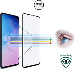 Entwth 3D Curved Full Coverage Anti Blue Light Screen Tempered Glass Protector[2 Packs] for Samsung Galaxy S10+ Plus 6.4