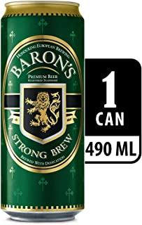 Baron's Strong Brew Lager Beer Can, 490ml