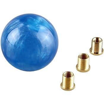 Universal Car 5 Speed Manual Gear Shift Knob Shifter Lever Stick Round Ball Blue