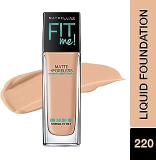 Maybelline Fit Me Matte + Poreless Liquid Foundation Makeup, Natural Beige, 1 fl. oz. Oil-Free Foundation