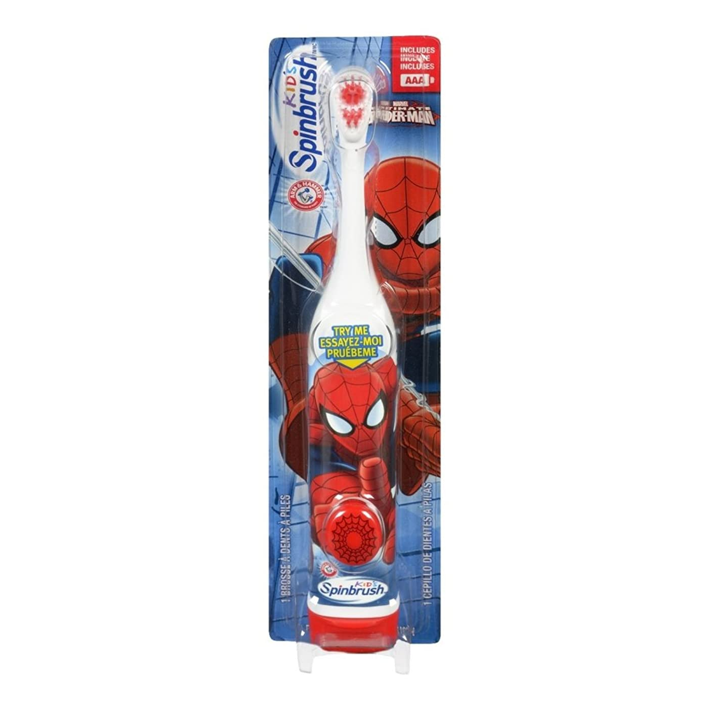 色位置するコーナーARM & HAMMER Kid's Spinbrush Spiderman 1 Each (Pack of 6) Designs May Vary 141[並行輸入]