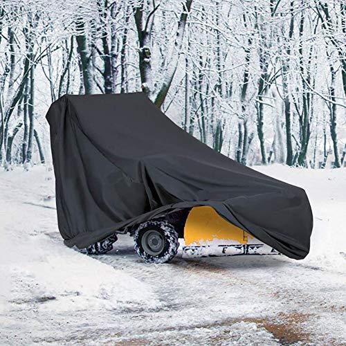 iBoosila Schneewerfer-Abdeckung, zweistufig, staubdicht, Winddicht, für die meisten elektrischen Schneefräsen mit Schlössern, Schnallen und Tragetasche