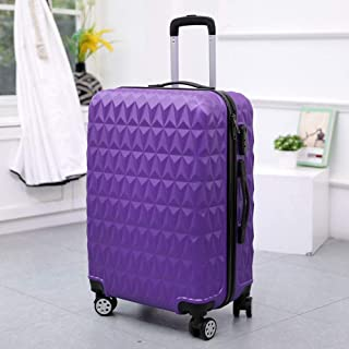 Password Box Gift Unisex Hard case Suitcase Trolley case Purple 24 inch