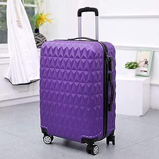 Password Box Gift Unisex Hard case Suitcase Trolley case Purple 24 inch