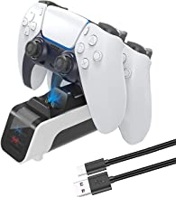 PS5 Controller Dual Charging Station, PS5 DualSense Wireless Controller Charger, Fast Charging Dock Compatible with Sony P...