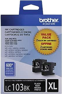 Brother LC-1032PKS Ink Cartridge (Black, 2-pack) in Retail Packaging