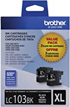 Brother LC-1032PKS Ink Cartridge (Black, 2-pack) in Retail Packaging