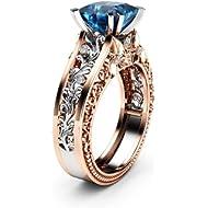 FEDULK Womens Jewelry National Style Boho Natural Gemstone Marquise Moonstone Personalized Pretty...