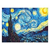 Crafts Graphy 5D DIY Diamond Painting Kits for Adults Full Drill - Circular Drill, Starry Night, Large Size 16 x 20 Inches