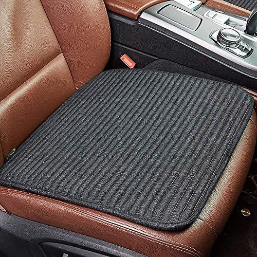 GAOYUN Compatible con el cojín del Asiento del automóvil Passat/Malibu/TeaA, Amortiguador Cuadrado y Respirable sin Respaldo, Universal for Todas Las Estaciones (Color : Black, Size : 1 pcs)