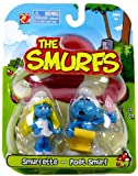 Smurfs 2 Inch Articulated Mini Figure 2-Pack Smurfette and Poet Smurf